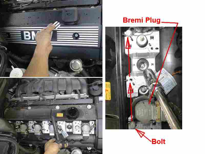 Accessing spark plugs for spark plug change (I6)